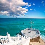 Mar Mediterrâneo de del Mediterraneo do balcon de Benidorm Imagem de Stock Royalty Free