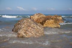 Mar Mediterrâneo Haifa Israel Fotos de Stock