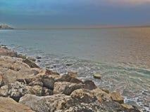 Mar Mediterrâneo israel Foto de Stock