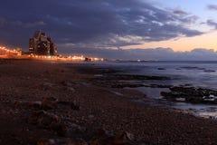 Mar Mediterrâneo nebuloso da noite Foto de Stock Royalty Free