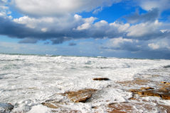 Mar Mediterrâneo no inverno Fotos de Stock