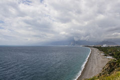 Mar Mediterrâneo, praia de Konyaalty, Antalya Fotografia de Stock