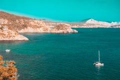 Mar Mediterr?neo do ver?o em Ibiza, Balearic Island imagem de stock