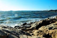 Mar Mediterr?neo en el sur Francia foto de archivo libre de regalías