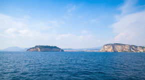 Mar Mediterraneo, baia di Napoli, paesaggio Fotografia Stock