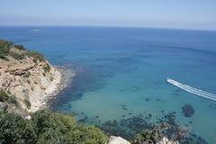 Mar Mediterraneo Cipro Akamas Fotografie Stock Libere da Diritti