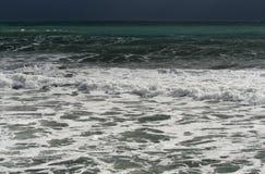 Mar Mediterraneo a gennaio fotografia stock