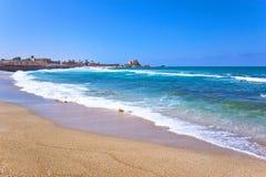 Mar Mediterraneo in Israele Fotografia Stock