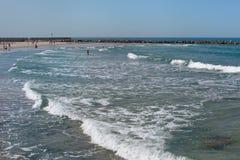 Mar Mediterraneo ondulato Fotografia Stock Libera da Diritti