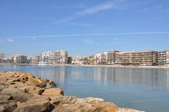 Mar Mediterraneo un giorno soleggiato Yacht nel mare Fotografia Stock
