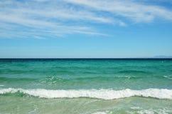 Mar Mediterraneo vicino alla costa corsa Fotografia Stock Libera da Diritti
