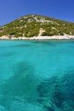Mar Mediterráneo de la turquesa Imágenes de archivo libres de regalías