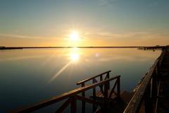 Mar Menor. Sunrise over the Mar Menor, Costa Calida, Murcia, Spain Royalty Free Stock Photography