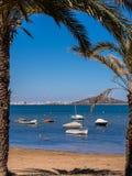 Mar Menor Holiday Seaside Resort Spain. Scenic view of the Mar Menor, Islas Menores and La Manga. Los Nietos, Costa Calida, Spain Stock Photos