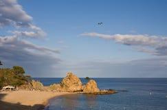 Mar Menuda beach in Tossa de Mar. Costa Brava, Catalonia, Spain Stock Photo