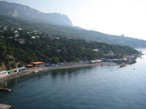 Mar, montanhas Fotos de Stock Royalty Free