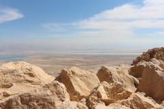 Mar Morto do masada fotografia de stock