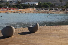 Mar Morto em Israel - Ein Bokek Imagem de Stock