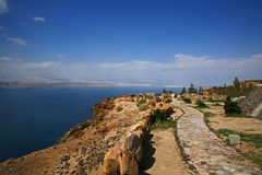 Mar Morto in Giordania Fotografia Stock