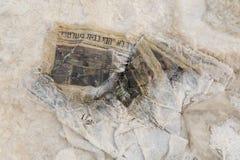 Mar Morto, ISRAEL - 20 de dezembro de 2016: Poluição no Mar Morto Imagem de Stock