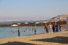Mar Morto in Israele - Ein Bokek Fotografie Stock Libere da Diritti