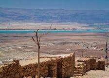 Mar Morto no deserto de Judean como visto de Masada Imagem de Stock Royalty Free