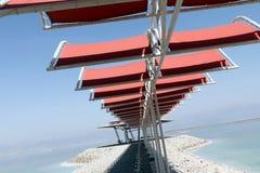 Mar Morto. Passaggio pedonale coperto fotografia stock