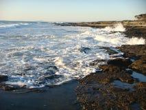 Mar movente no inverno no Latium em Itália Fotos de Stock