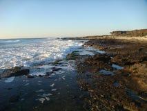 Mar movente no inverno no Latium em Itália Foto de Stock Royalty Free