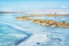 Mar muerto en Israel Imágenes de archivo libres de regalías