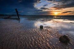 Mar muito mais baixo Fotografia de Stock