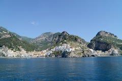 Mar na costa de Amalfi - Nápoles, Itália Fotos de Stock Royalty Free