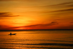 Mar na manhã Fotos de Stock