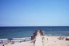 Mar Nero Località di soggiorno di Efore Nord, Romania fotografia stock libera da diritti
