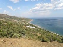 Mar Nero - vista dal boschetto del ginepro Fotografia Stock