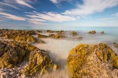 Mar nevoento Foto de Stock Royalty Free