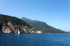 Mar no console da Ilha de Elba Foto de Stock Royalty Free