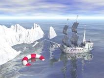 Mar no inverno Fotografia de Stock Royalty Free