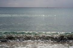 Mar no inverno antes da tempestade Paisagem de Sardinia Imagens de Stock Royalty Free