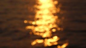 Mar no nascer do sol video estoque