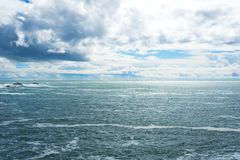 Mar no parque estadual da costa de Sonoma fotos de stock