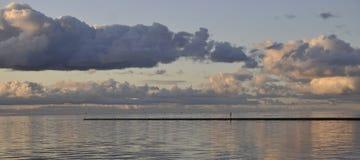Mar nublado Foto de archivo
