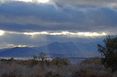 Mar nublado California de Salton Foto de archivo libre de regalías