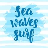Mar, ondas, resaca Cita inspirada Fotografía de archivo libre de regalías