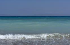 Mar, ondas, ressaca, água azul Fotografia de Stock