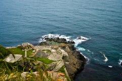 Mar ondulado en un aire ventoso foto de archivo libre de regalías