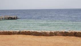 Mar ou oceano da água na praia filme