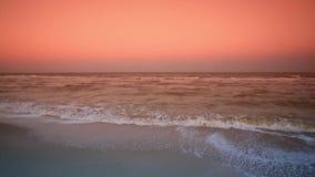 Mar panorâmico na noite vídeos de arquivo
