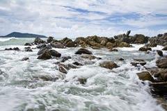 Mar Patong, Puket de la playa, Foto de archivo