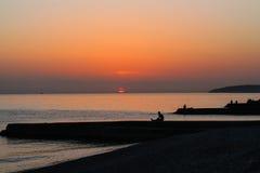 Mar, por do sol Imagens de Stock Royalty Free